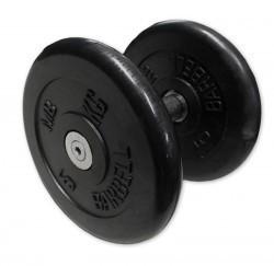 Гантель неразборная черная 8,5 кг