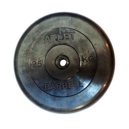 Диск обрезиненный черный (d31мм 25 кг)