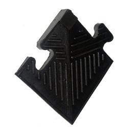 Уголок резиновый для бордюра, чёрный, 12 мм