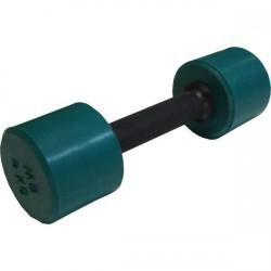 Гантель обрезиненная с обрезиненной ручкой 4 кг, цветная MB-FitC-4