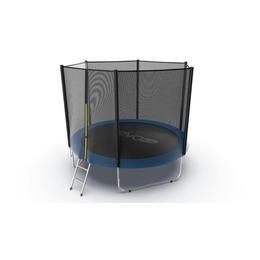 JUMP External 10ft (Blue) Батут с внешней сеткой и лестницей, диаметр 10ft (синий)
