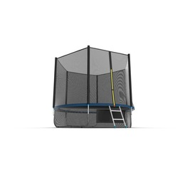 JUMP External 10ft (Blue) + Lower net. Батут с внешней сеткой и лестницей, диаметр 10ft (синий) + нижняя сеть
