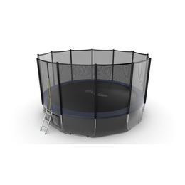 JUMP External 16ft (Blue) + Lower net. Батут с внешней сеткой и лестницей, диаметр 16ft (синий) + нижняя сеть