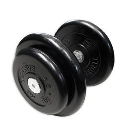 Гантель неразборная черная 16 кг