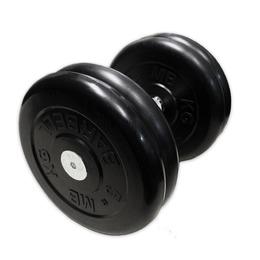 Гантель неразборная черная 23,5 кг