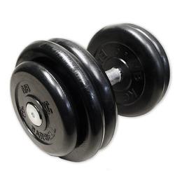 Гантель неразборная черная 28,5 кг