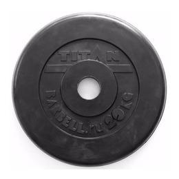 Диск обрезиненный черный 20 кг (51 мм)