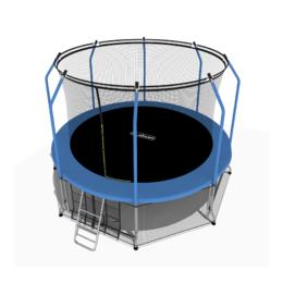 Батут i-JUMP Elegant 16ft (4,88 м.) с нижней сетью и лестницей (blue)