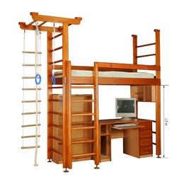 Кровать чердак Карусель 4Д.02.01 без мебели