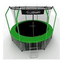 i-JUMP Elegant 14ft с нижней сетью и лестницей (green)