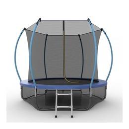 JUMP Internal 8ft (Blue) + Lower net. Батут с внутренней сеткой и лестницей, диаметр 8ft (синий) + нижняя сеть