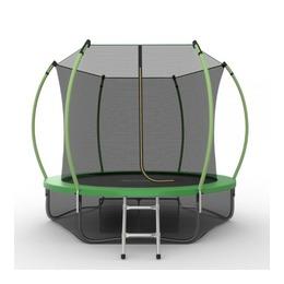 JUMP Internal 8ft (Green) + Lower net. Батут с внутренней сеткой и лестницей, диаметр 8ft (зеленый) + нижняя сеть