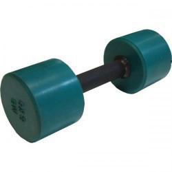 Гантель обрезиненная с обрезиненной ручкой 5 кг, цветная MB-FitC-5