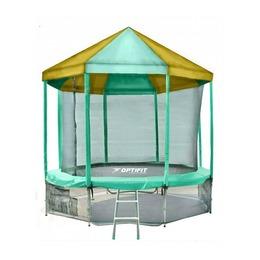 LIKE GREEN 10FT Батут с зелено-желтой крышей