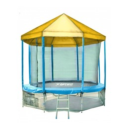 LIKE BLUE 14FT Батут с желтой крышей