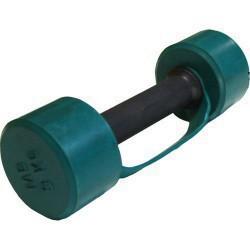 Гантель обрезиненная с обрезиненной ручкой 3 кг, цветная MB-FitC-3