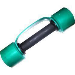 Гантель обрезиненная с обрезиненной ручкой 2,5 кг, цветная MB-FitC-2,5
