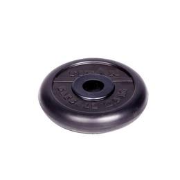 Диск обрезиненный черный 2.5кг(31мм)