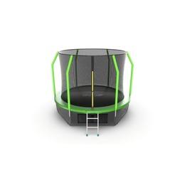 JUMP Cosmo 10ft (Green) + Lower net. Батут с внутренней сеткой и лестницей, диаметр 10ft (зеленый) + нижняя сеть