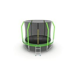 EVO JUMP Cosmo 10ft (Green) Батут с внутренней сеткой и лестницей, диаметр 10ft (зеленый)