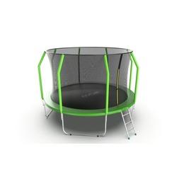 JUMP Cosmo 12ft (Green) Батут с внутренней сеткой и лестницей, диаметр 12ft (зеленый