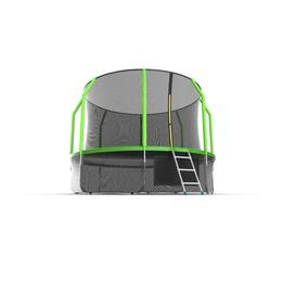 JUMP Cosmo 12ft (Green) + Lower net. Батут с внутренней сеткой и лестницей, диаметр 12ft (зеленый) + нижняя сеть
