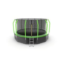 JUMP Cosmo 16ft (Green) + Lower net. Батут с внутренней сеткой и лестницей, диаметр 16ft (зеленый) + нижняя сеть