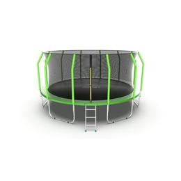 JUMP Cosmo 16ft (Green) Батут с внутренней сеткой и лестницей, диаметр 16ft (зеленый)