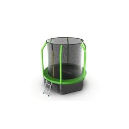 JUMP Cosmo 6ft (Green) + Lower net. Батут с внутренней сеткой и лестницей, диаметр 6ft (зеленый) + нижняя сеть