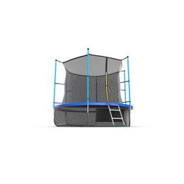EVO JUMP Internal 10ft (Blue) + Lower net. Батут с внутренней сеткой и лестницей, диаметр 10ft (синий) + нижняя сеть