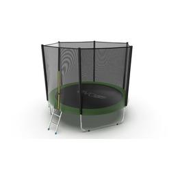 JUMP External 10ft (Green) Батут с внешней сеткой и лестницей, диаметр 10ft (зеленый)