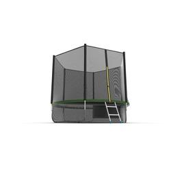 JUMP External 10ft (Green) + Lower net. Батут с внешней сеткой и лестницей, диаметр 10ft (зеленый) + нижняя сеть