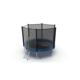 JUMP External 8ft (Blue) Батут с внешней сеткой и лестницей, диаметр 8ft (синий)