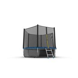 JUMP External 8ft (Blue) + Lower net. Батут с внешней сеткой и лестницей, диаметр 8ft (синий) + нижняя сеть