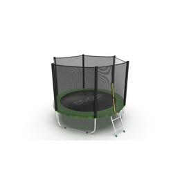 JUMP External 8ft (Green) Батут с внешней сеткой и лестницей, диаметр 8ft (зеленый)