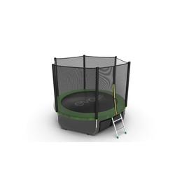 JUMP External 8ft (Green) + Lower net. Батут с внешней сеткой и лестницей, диаметр 8ft (зеленый) + нижняя сет