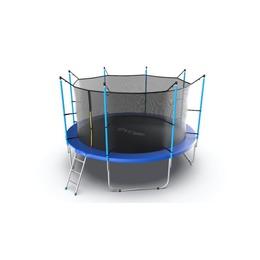 JUMP Internal 12ft (Blue) Батут с внутренней сеткой и лестницей, диаметр 12ft (синий)