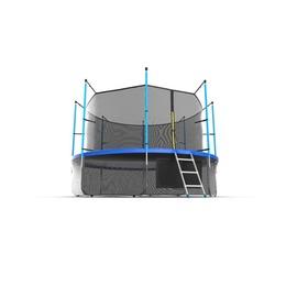 JUMP Internal 12ft (Blue) + Lower net. Батут с внутренней сеткой и лестницей, диаметр 12ft (синий) + нижняя сеть