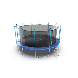 JUMP Internal 16ft (Blue) Батут с внутренней сеткой и лестницей, диаметр 16ft (синий)