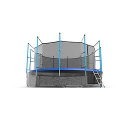 JUMP Internal 16ft (Blue) + Lower net. Батут с внутренней сеткой и лестницей, диаметр 16ft (синий) + нижняя сеть