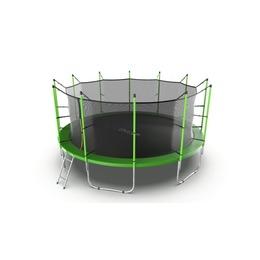 JUMP Internal 16ft (Green) Батут с внутренней сеткой и лестницей, диаметр 16ft (зеленый)