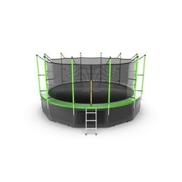 JUMP Internal 16ft (Green) + Lower net. Батут с внутренней сеткой и лестницей, диаметр 16ft (зеленый) + нижняя сеть