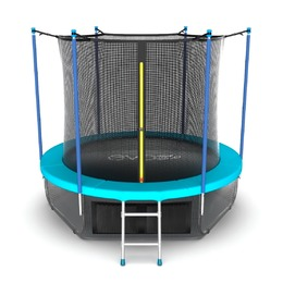 EVO JUMP Internal 8ft (Wave). Батут с внутренней сеткой и лестницей, диаметр 8ft (морская волна) + нижняя сеть