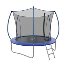 EVO JUMP Internal 10ft (Blue) Батут СКЛАДНОЙ с внутренней сеткой и лестницей, диаметр 10ft (синий)