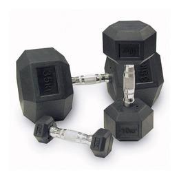 Набор обрезиненных гантелей от 22,5 до 35 кг, шаг 2,5 кг