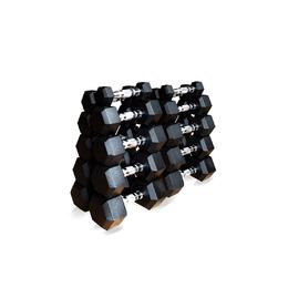 Набор гексагональных гантелей 10 пар от 1 до 10 кг