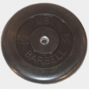 Диск обрезиненный черный 25 кг