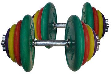 Набор цветных гантелей 2 х 20 кг