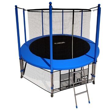 Батут i-JUMP Classic 16ft (4,88 м.) с нижней сетью и лестницей (blue)