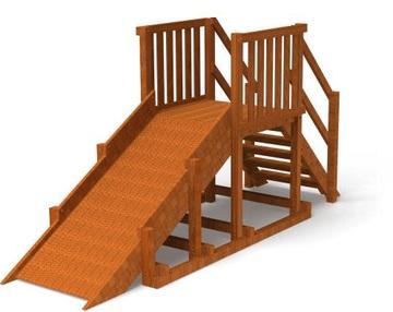 Горка деревянная Самсон Урал